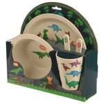 4-All-Gifts-Online-present-gift-Kids-Dinosaur-Design-Dinner-Set-Bambootique-Eco-Friendly-Biodegradable-Bamboo-A-perf-B07KT5QW54