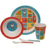 Bamboo-Eco-Friendly-Space-Design-Kids-Dinner-Set-B07T8PW5CR