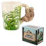 Puckator-3D-Mug-with-Sloth-Shaped-Handle-Novelty-Tea-Coffee-Cup-Kids-Pen-Holder-Gift-Toy-Multi-Height-11cm-Width-135c-B07M67L1TM
